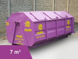 Kontener 7 m3 na odpady i nieczystości